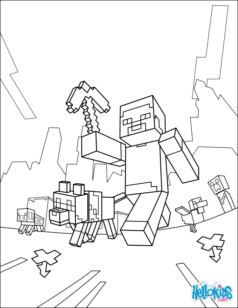 desenhos para colorir de minecraft para colorir dar um passeio pt