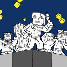 Página para colorir Minecraft - Explore o mundo