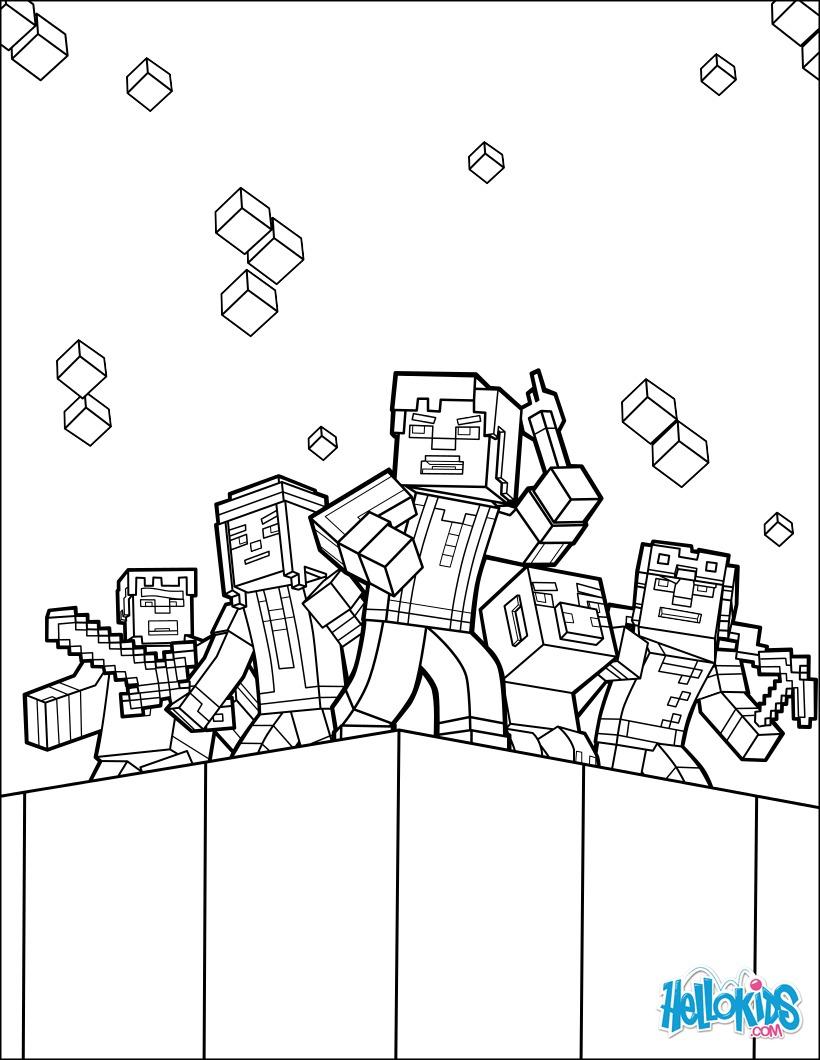 Desenhos Para Colorir De Pagina Para Colorir Minecraft Explore O