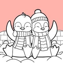 Desenhos Para Colorir De Pinguins Dia Dos Namorados Pt Hellokids Com