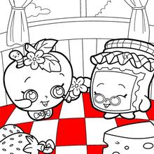 Desenhos Para Colorir De Shopkins Gran Jam Appleblossom Pt