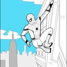 Desenhos para colorir de spiderman homecoming 2