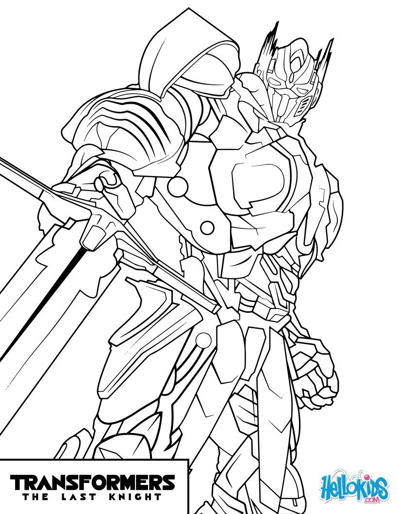 Desenhos Para Colorir De Transformers Optimus Prime Pt Hellokids Com
