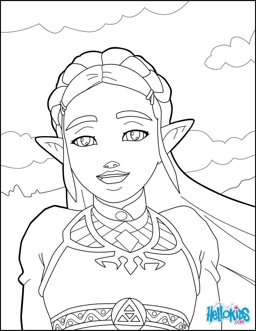 Desenhos Para Colorir De Zelda Breath Of The Wild Pt Hellokids Com