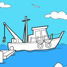 Barco nas docas