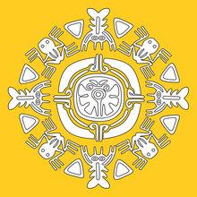 Mandala de animais Astecas