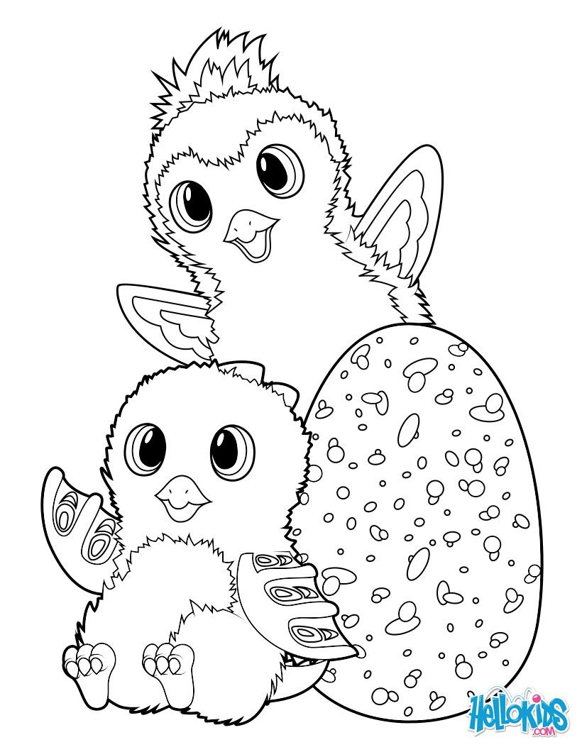 Hatchimals Draggle and Penguala