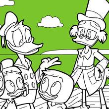 Donald Duck e Huguinho, Zezinho e Luisinho con Patinhas McPato