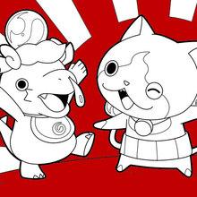 monstros Yokai Watch felizes
