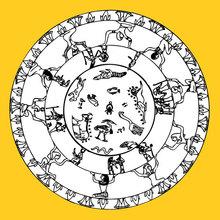Mandala com simbolos egípcios