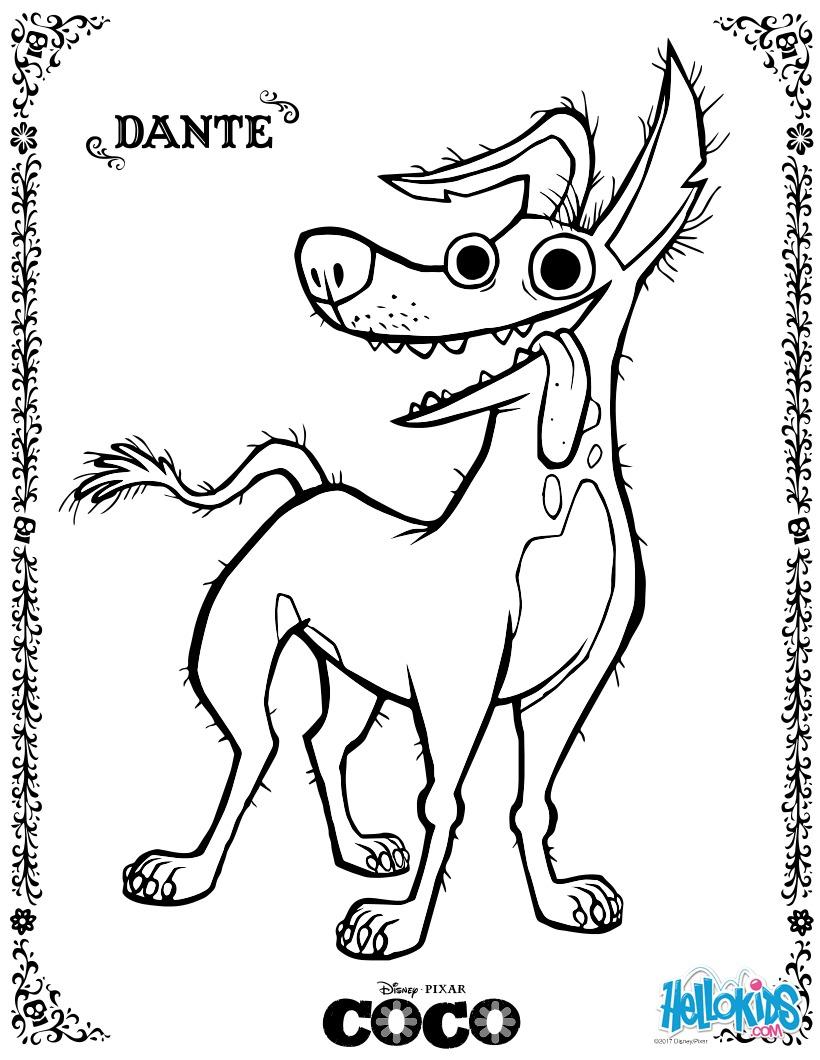 Disney Coco Dante para colorir