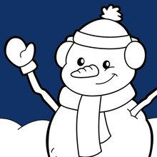 Boneco de neve feliz