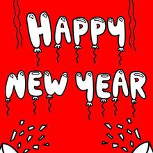 Bonne année et ballons
