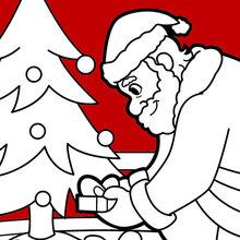 Papai Noel entregando presentes