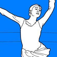 Desenhos Para Colorir De Patinacao Artistica Nos Jogos Olimpicos