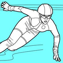 Patinador de velocidade de pista curta