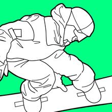Snowboarder sur les Jeux olympiques