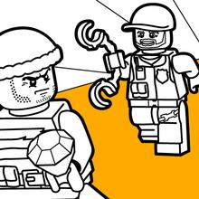 Desenhos Para Colorir De Lego Perseguicao Policial Pt Hellokids Com