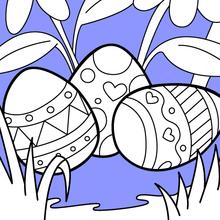 Bonitos ovos de Páscoa
