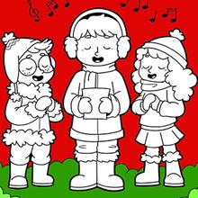 As crianças cantam no Natal